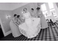 Ellis Bridal 11368 lace fishtail wedding dress size 12 Ivory