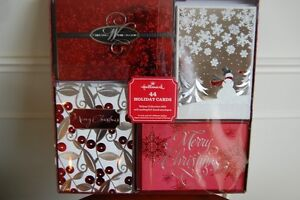 2 Boxes New Hallmark Christmas Cards - 44 per box