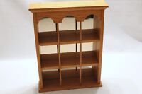 SOLID OAK WALL MOUNTABLE CURIO CABINET WITH BACK MIRROR Watch|Sh