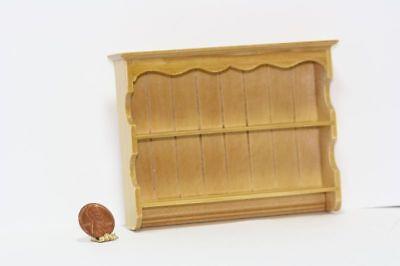 Dollhouse Miniature 1:12 Scale Oak Kitchen Wall Shelf Unit