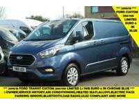 2018 FORD TRANSIT CUSTOM 280/130 LIMITED L1 SWB EURO 6 IN CHROME BLUE WITH ONLY