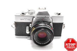 Minolta SRT 101 with Minolta Rokkor-X 45mm f2 Lens