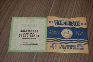 Antique View-master Disney 1940's Reels with booklets