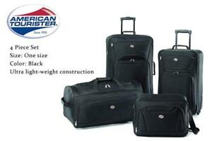 NEW American Tourister Fieldbrook II 4 Piece Set, Black Condtion: New, One size, Black