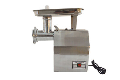 110v Electric Meat Grinders Commercial Meat Mincer Machine Stainless Steel 1100w