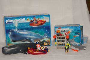 Playmobil Researcher on Boat and Whale & Shark Diver Gatineau Ottawa / Gatineau Area image 1