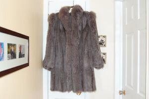 Manteau de fourrure - Vison et renard teint