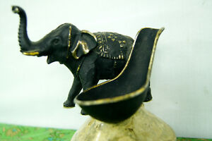 Bronze Elephant Pipe Stand - Smoking Collectibles - Pipe Smoker