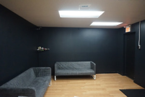 Unique Turn Key Lower Level Commercial Studio Space For Lease