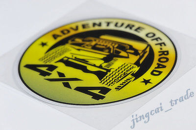 Yellow ADVENTURE OFF-ROAD 4X4 Logo Car Auto SUV JEEP Body Sticker Decal