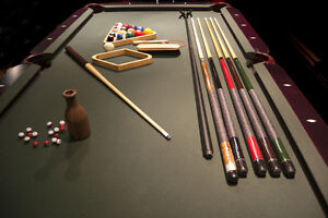 Pool table and custom made top