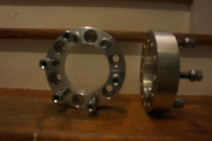 """2"""" wheel spacers off of a Toyota Tundra will fit Chev and Gm"""