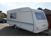 Adria Altea 502DK 2007 5 Berth Caravan (Bunk bed model) with porch awning & other camping equipment