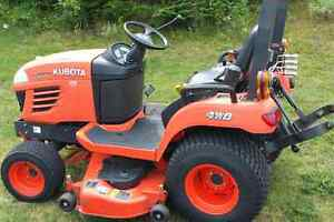 Tractor and mower