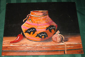 Mexican Painting on Canvas F/S