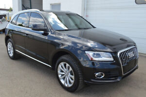2013 Audi Q5 2.0 liter turbo, AWD, saddle brown leather