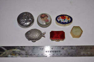 6 Antique Earring Cases for sale