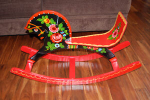 Antique Russian rocking horse Strathcona County Edmonton Area image 2
