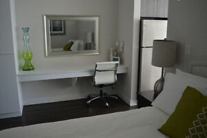 Spend Christmas in downtown Victoria in your furnished suite!
