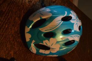 Hawaiian Print Child Bike Helmet (52 - 56cm) NEVER WORN