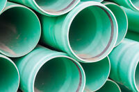 "8"" PVC sewer pipe"