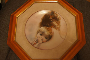 Collector Plate Mother and Child Hackett American-rare