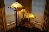 Tiffany-Style Stained Glass Lamps (1 Pole, 2 table)