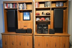Fisher 24 Disc CD Changer, Amplifier & Surround Sound Speakers