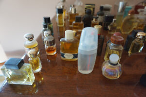collection of  50 mini perfume bottles