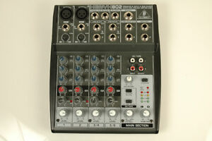 Behringer XENYX 802 - Compact 8-Channel Mixer with Mic Pre-Amps
