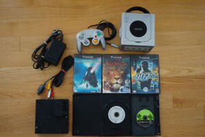 Gamecube with 1 controller,  Gameboy player and 4 games