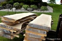 Live Natural Edge Wood Slabs KD