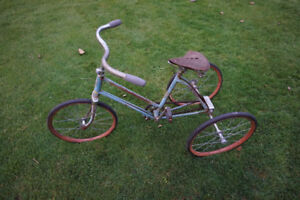 Rare antique tricycle/bicycle