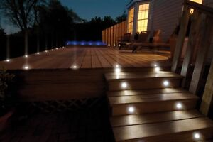 Easy-to-Install LED Deck Lights Kit - Pack of 10 - Brand New