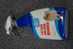 OUT! Cat Stain And Odor Remover Spray Bottle