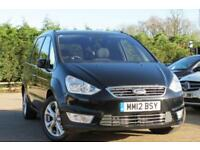FORD GALAXY 2.0 TITANIUM 5D 201 BHP 2012 12 BLACK AUTOMATIC
