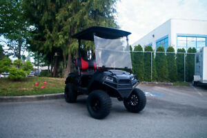 2015 Black Yamaha Electric Golf Cart - RSC Custom Golf Carts