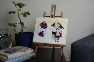 Montreal Canadiens Original Acrylic on Canvas Painting