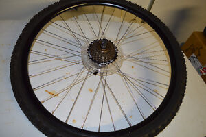 NEW 26 inch Shimano rear wheel with tire