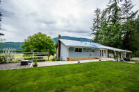 1063 Mabel Lake Road, Enderby - Beautiful Rancher on 2.62 Acres.