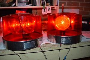 Vintage Emergency Police Lights