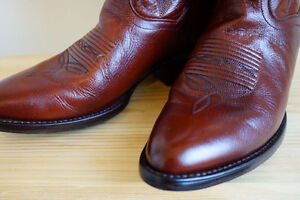 Dan Post Leather cow boy boots (chocolate colour)