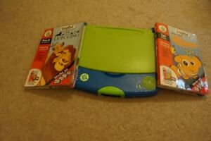 LEAP PAD WITH TWO BOOKS FOR SALE