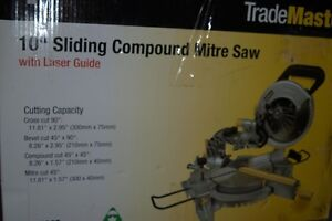 "10"" Sliding Compound Mitre Saw with Laser Guide"