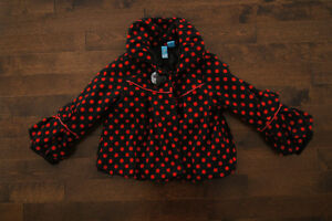 3T Polka Dot Coat - Blu