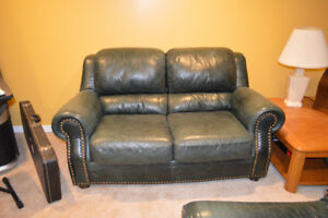 Moving Sale!  Leather Sofa and Loveseat