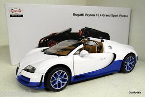 rastar 1 18 scale 43900 bugatti veyron 16 4 grand sport white diecast model car. Black Bedroom Furniture Sets. Home Design Ideas