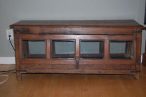 Antique Moroccan  wood display cabinet/sideboard