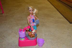 Barbie Puppy Washing Set