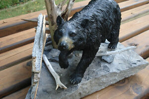 3-D Hand Crafted Black Bear Table Sculpture Belleville Belleville Area image 7